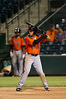 AZL Giants shortstop Nico Giarratano (9) bats during a game against the AZL Angels on July 9, 2017 at Diablo Stadium in Tempe, Arizona. AZL Giants defeated the AZL Angels 8-4. (Zachary Lucy/Four Seam Images)