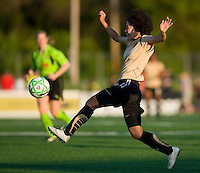 FC Gold Pride forward Eriko Arakawa (30) catches a pass during a WPS match against St. Louis Athletica at Korte Stadium, in St. Louis, MO, May 9 2009.  St. Louis won the match 1-0.