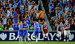 Chelsea players celebrate their first goal against Aston Villa during the Asia Trophy pre-season friendly match at the Hong Kong Stadium on July 30, 2011 in So Kon Po, Hong Kong. Photo by Victor Fraile / The Power of Sport Images
