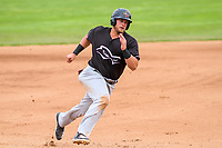 Quad Cities River Bandits third baseman Colton Shaver (37) races around third base during a Midwest League game against the Beloit Snappers on May 20, 2018 at Pohlman Field in Beloit, Wisconsin. Beloit defeated Quad Cities 3-2. (Brad Krause/Four Seam Images)