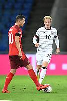 Granit Xhaka (Schweiz) und Julian Brandt (Deutschland).<br /> Sport: Fussball: UEFA Nations League: 2. Spieltag: Schweiz - Deutschland, 06.09.2020<br /> <br /> Foto: Markus Gilliar/GES/POOL/Marc Schüler/Sportpics.de