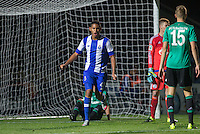 Ismael Diaz de Leon of Porto U21 turns to celebrate his goal during the Premier League U21 International Cup match between Porto U21 and Schalke 04 U21 at Adams Park, High Wycombe, England on 25 September 2015. Photo by Andy Rowland.