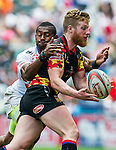 Belgium vs Japan during the HSBC Sevens Wold Series Shield Semi Finals match as part of the Cathay Pacific / HSBC Hong Kong Sevens at the Hong Kong Stadium on 29 March 2015 in Hong Kong, China. Photo by Juan Manuel Serrano / Power Sport Images