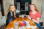 Enjoying the evening in Molly J's on Thursday, l to r: Rachel Taylor and Aoife O'Flaherty from Lixnaw.