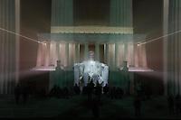 This won the DCFoto night visions award. The Lincoln Memorial at night. By Art Harman