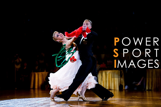 Evaldas Sodeika and Ieva Zukauskaite of Lithuania during the Day 2 of the WDSF GrandSlam Hong Kong 2014 on June 01, 2014 at the Queen Elizabeth Stadium Arena in Hong Kong, China. Photo by AItor Alcalde / Power Sport Images