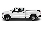 Car Driver side profile view of a 2020 Chevrolet Silverado-1500 WT 4 Door Pick-up Side View