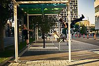 Le  Quartier des Spectacles, le 31 aout 2020 apres le confinement du au COVID 19