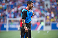 HARRISON, New Jersey - Friday, July 21, 2017: Barcelona FC practices at Red Bull Arena a day ahead of their match with Juventus as part of the Guinness International Champions Cup.