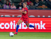 CARSON, CA - FEBRUARY 7: Carli Lloyd #10 of the United States dribbles during a game between Mexico and USWNT at Dignity Health Sports Park on February 7, 2020 in Carson, California.