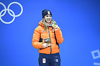 OLYMPIC GAMES: PYEONGCHANG: 23-02-2018, PyeongChang Medal Plaza, Short Track winner 1000m Ladies , Suzanne Schulting (NED), ©photo Martin de Jong