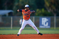 Elijha Hammill (10) during the WWBA World Championship at Lee County Player Development Complex on October 9, 2020 in Fort Myers, Florida.  Elijha Hammill, a resident of Oakville, Ontario, Canada who attends Holy Trinity Catholic High School, is committed to Utah.  (Mike Janes/Four Seam Images)