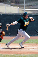 Michael Napoleon - Oakland Athletics - 2009 spring training.Photo by:  Bill Mitchell/Four Seam Images