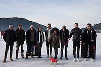 LE JURY LONG METRAGE PENDANT LE 24EME FESTIVAL INTERNATIONAL DU FILM FANTASTIQUE DE GERARDMER, LE 28 JANVIER 2017 A GERARDMER, FRANCE. # 24EME FESTIVAL DU FILM FANTASTIQUE DE GERARDMER