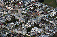 aerial photograph of Pacific Heights, residential neighborhood, San Francisco, California