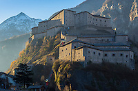 Italie, Val d'Aoste, fort de Bard, Museo delle Alpi (musée des Alpes) vu du côté ouest // Italy, Aosta Valley, Bard Fort, Museo delle Alpi (Alps Museum) seen from the western side
