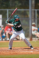 Michigan State Spartans third baseman Justin Hovis (8) at bat during a game against the Illinois State Redbirds on March 8, 2016 at North Charlotte Regional Park in Port Charlotte, Florida.  Michigan State defeated Illinois State 15-0.  (Mike Janes/Four Seam Images)
