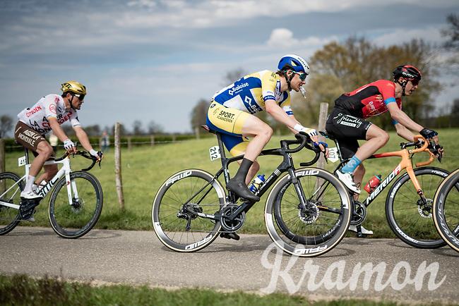 Rune Herregodts (BEL/Sport Vlaanderen - Baloise) ready to snack<br /> <br /> 55th Amstel Gold Race 2021 (1.UWT)<br /> 1 day race from Valkenburg to Berg en Terblijt; raced on closed circuit (NED/217km)<br /> <br /> ©kramon
