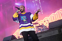 Anderson Paak performs on the main stage of the Festival d'ete de Quebec (FEQ) in Quebec city Friday July 7, 2017.