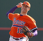 17 February 2006:  Jason Berken pitches in the opening series between James Madison University and Clemson University at Doug Kingsmore Stadium, Clemson, S.C. (Photo by Tom Priddy)