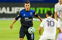 CARSON, CA - OCTOBER 14: Chris Wondolowski #8 of the San Jose Earthquakes moves to the ball during a game between San Jose Earthquakes and Los Angeles Galaxy at Dignity Heath Sports Park on October 14, 2020 in Carson, California.