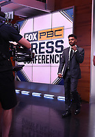 LOS ANGELES, CA - JULY 11: Errol Spence Jr. attends a press conference on July 11, 2021 in Los Angeles for his upcoming Fox Sports PBC pay-per-view fight against Manny Pacquaio. Pacquaio vs Spence pay-per-view will be on August 21 at T-Mobile Arena in Las Vegas. (Photo by Frank Micelotta/Fox Sports/PictureGroup)