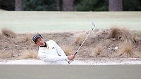 PINEHURST, NC - MARCH 02: Eric Bae of Wake Forest University chips out of a bunker onto the green on the third hole at Pinehurst No. 2 on March 02, 2021 in Pinehurst, North Carolina.
