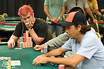 Gavon Griffen stares in the direction of Ryan Russ