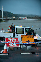 Friday 03 January 2014<br /> Pictured: The River Towy In Carmarthen Carmarthenshire, Bursts it's banks leaving the quay completely under water due to high tidal surges<br /> Re: Storm force winds and some of the highest tides in decades are expected early on Friday as several severe flood warnings are issued.