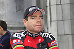 Defending Champion Cadel Evans (AUS) BMC Racing Team waits to go on stage at the Team Presentation Ceremony before the 2012 Tour de France in front of The Palais Provincial, Place Saint-Lambert, Liege, Belgium. 28th June 2012.<br /> (Photo by Eoin Clarke/NEWSFILE)