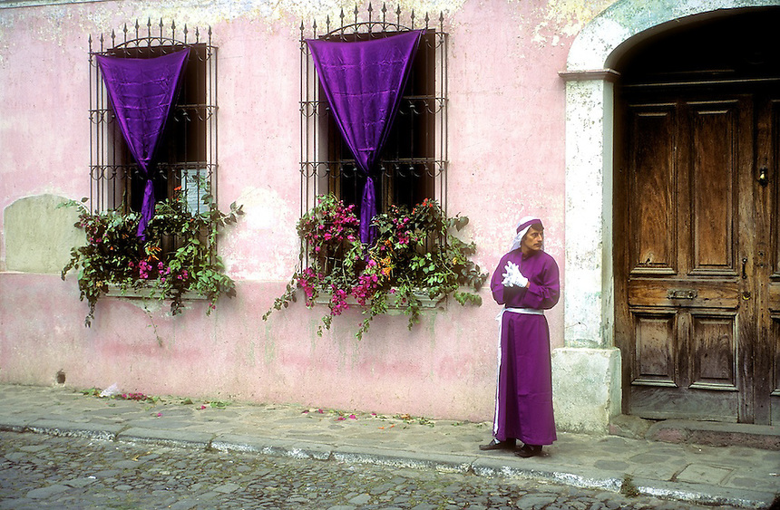 The holy week processions through the streets of the colonial city of Antigua, Guatemala, are the largest Semana Santa events in Latin America. Photograph by Peter E. Randall Semana Santa,