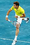 Milos Raonic during Mutua Madrid Open 2012 match on may 9th 2012...Photo: Cesar Cebolla / ALFAQUI