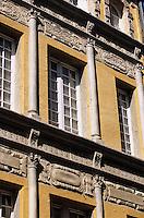 Europe/France/Auvergne/43/Haute-Loire/Le Puy-en-Velay: Détail de la façade d'un hôtel particulier rue Pannessac