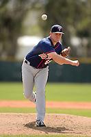 Minnesota Twins pitcher Tyler Duffey (68) during a minor league spring training game against the Baltimore Orioles on March 20, 2014 at the Buck O'Neil Complex in Sarasota, Florida.  (Mike Janes/Four Seam Images)