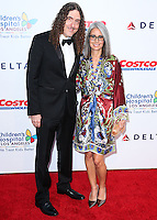 """LOS ANGELES, CA, USA - OCTOBER 11: """"Weird Al"""" Yankovic, Suzanne Krajewski arrives at the Children's Hospital Los Angeles' Gala Noche De Ninos 2014 held at the L.A. Live Event Deck on October 11, 2014 in Los Angeles, California, United States. (Photo by Xavier Collin/Celebrity Monitor)"""