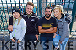 Ciara Cashman, James Landers, Alan Quirke and Elaine Lawlor at the Blennerville Tractor Run Into the West fundraiser for Kerry Hospice on Sunday.