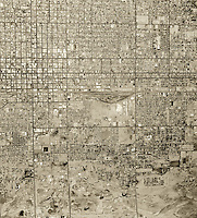 historical aerial photograph of Phoenix, Arizona, 1961