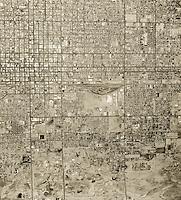 historical aerial photograph of Phoenix, Arizona, 1961