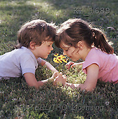 Interlitho, CHILDREN, photos, boy, girl, meadow(KL1689,#K#) Kinder, niños