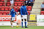 St Johnstone v Rangers…11.09.21  McDiarmid Park    SPFL<br />Efe Ambrose pictured during the warm up<br />Picture by Graeme Hart.<br />Copyright Perthshire Picture Agency<br />Tel: 01738 623350  Mobile: 07990 594431