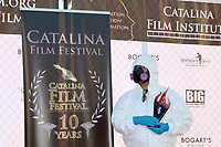 LOS ANGELES - SEP 25:  Hazmat attired presenter of Wes Craven Award at the Catalina Film Festival Drive Thru Red Carpet, Friday at the Scottish Rite Event Center on September 25, 2020 in Long Beach, CA