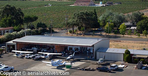 aerial photograph of Steve's Aircraft Repair, Lampson Field airport (1O2), Lakeport, Lake County, California