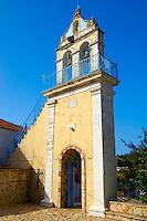 Orthodox church Bell Towers. Kefalonia, Ionian Islands, Greece.