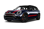 Stock pictures of low aggressive front three quarter view of 2019 MINI Clubman John-Cooper-Works-ALL4 5 Door Wagon Low Aggressive