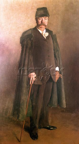 """Charles Frederick Worth (1825-1895) grand couturier francais d'origine anglaise, considere comme le fondateur de la haute couture parisienne, connu pour avoir introduit le """"faux-cul"""" ou tournure au second empire  ---  Charles Frederick Worth (1825-1895), the famous French (english-born) dressmaker and couturier , regarded as the founder of Parisian haute couture , noted for introducing the bustle"""