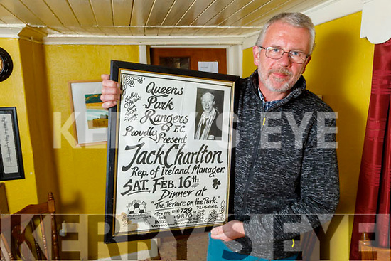 Micheal O'Dowd at his pub in Cloghane, Brandon remembering the late Jack Charlton, who stayed with him 5 times.