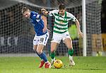 St Johnstone v Celtic…..29.01.20   McDiarmid Park   SPFL<br />Ali McCann and Callum McGregor<br />Picture by Graeme Hart.<br />Copyright Perthshire Picture Agency<br />Tel: 01738 623350  Mobile: 07990 594431