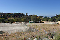"""FAO JANET TOMLINSON, DAILY MAIL <br /> Pictured: The field where the search is taking place in Kos, Greece. Friday 30 September 2016<br /> Re: Police teams searching for missing toddler Ben Needham on the Greek island of Kos have said they are """"optimistic"""" about new excavation work.<br /> Ben, from Sheffield, was 21 months old when he disappeared on 24 July 1991 during a family holiday.<br /> Digging has begun at a new site after a fresh line of inquiry suggested he could have been crushed by a digger.<br /> South Yorkshire Police (SYP) said it continued to keep an """"open mind"""" about what happened to Ben."""