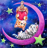 Kayomi, CUTE ANIMALS, paintings, RomanticMoon_M, USKH131,#AC# illustrations, pinturas ,everyday