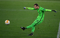 Football: Europa League - quarter final 2nd leg AS Roma vs Ajax, Olympic Stadium. Rome, Italy, March 15, 2021.<br /> Roma's goalkeeper Pau Lopez in action during the Europa League football match between Roma at Rome's Olympic stadium, Rome, on April 15, 2021.  <br /> UPDATE IMAGES PRESS/Isabella Bonotto